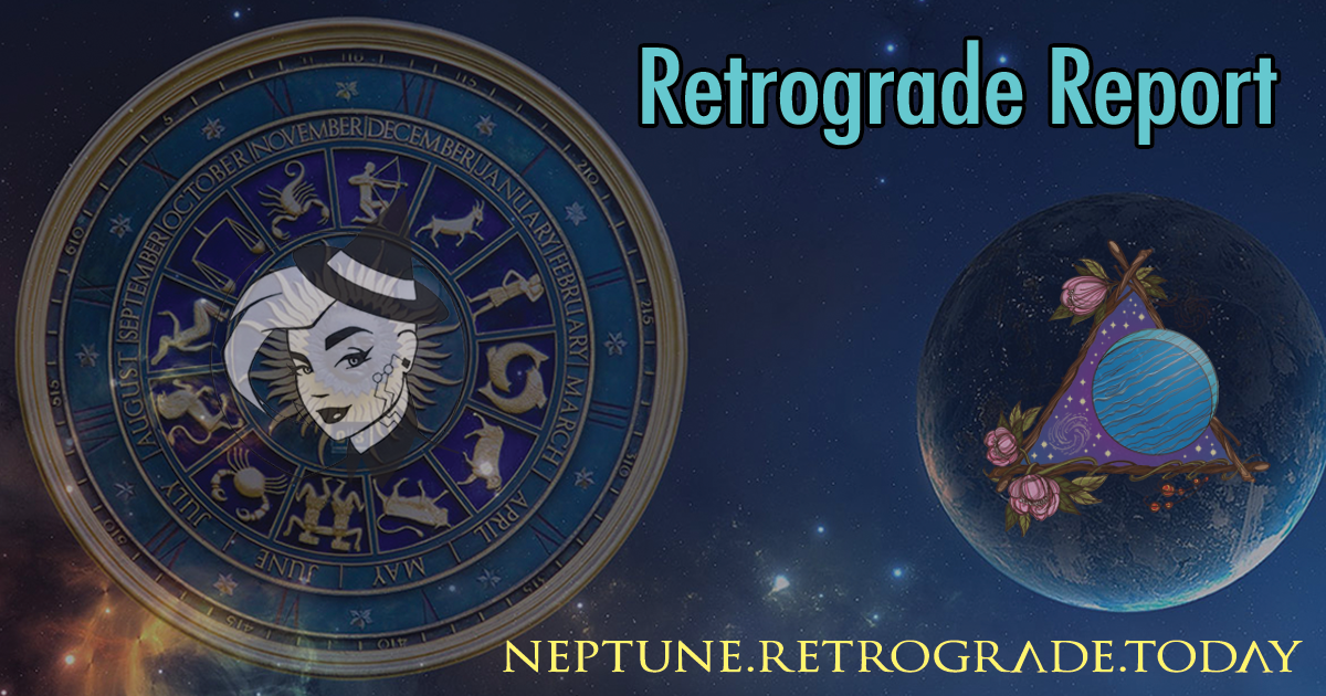 Neptune retrograde ends today!